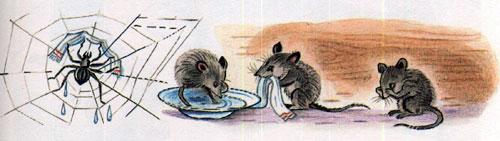 Мойдодыр - умываются мышата