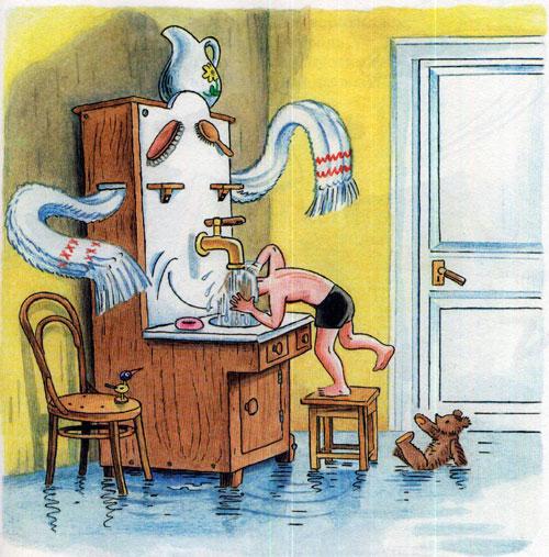 Мойдодыр - мальчик моется