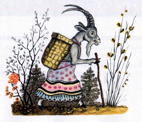 Сказка Волк и семеро козлят - фото 1