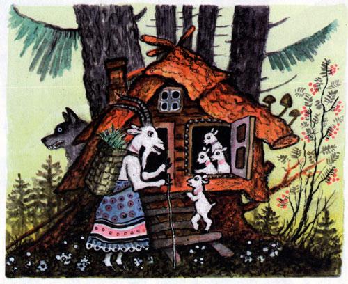 Сказка Волк и семеро козлят - фото 2