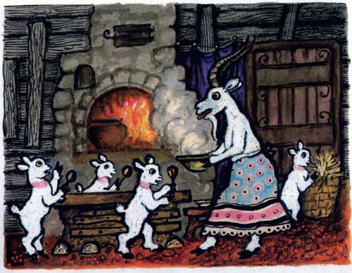 Сказка Волк и семеро козлят - фото 4