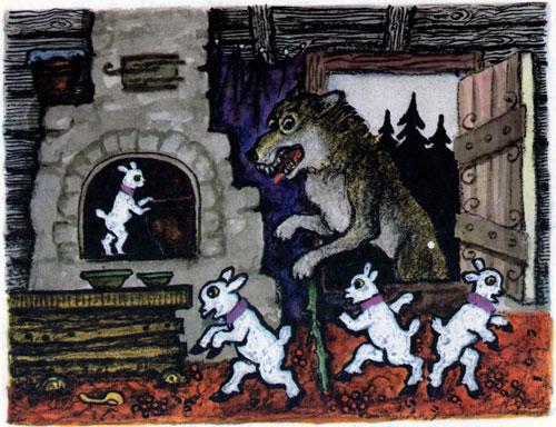 Сказка Волк и семеро козлят - фото 5