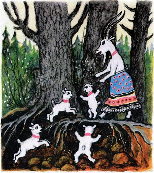 Сказка Волк и семеро козлят - фото 9