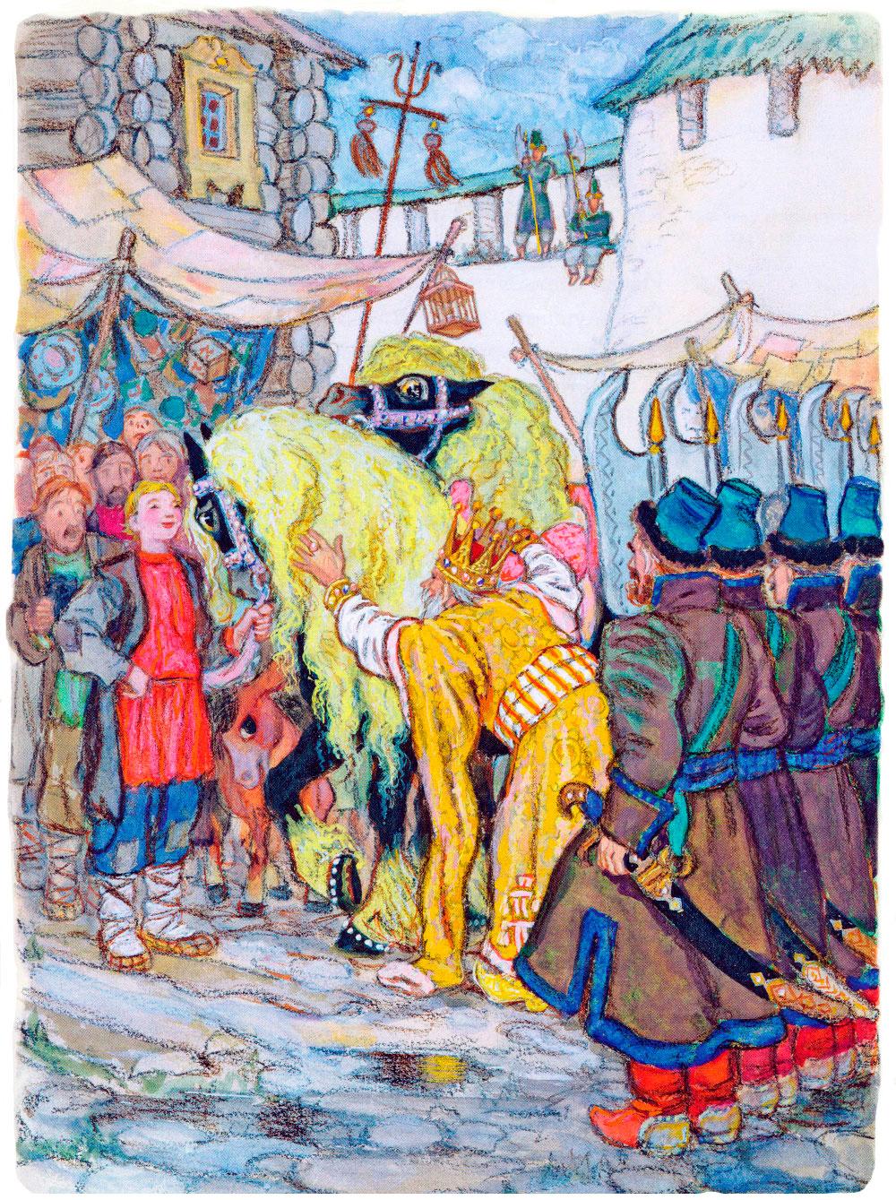 Иван показывает коней царю