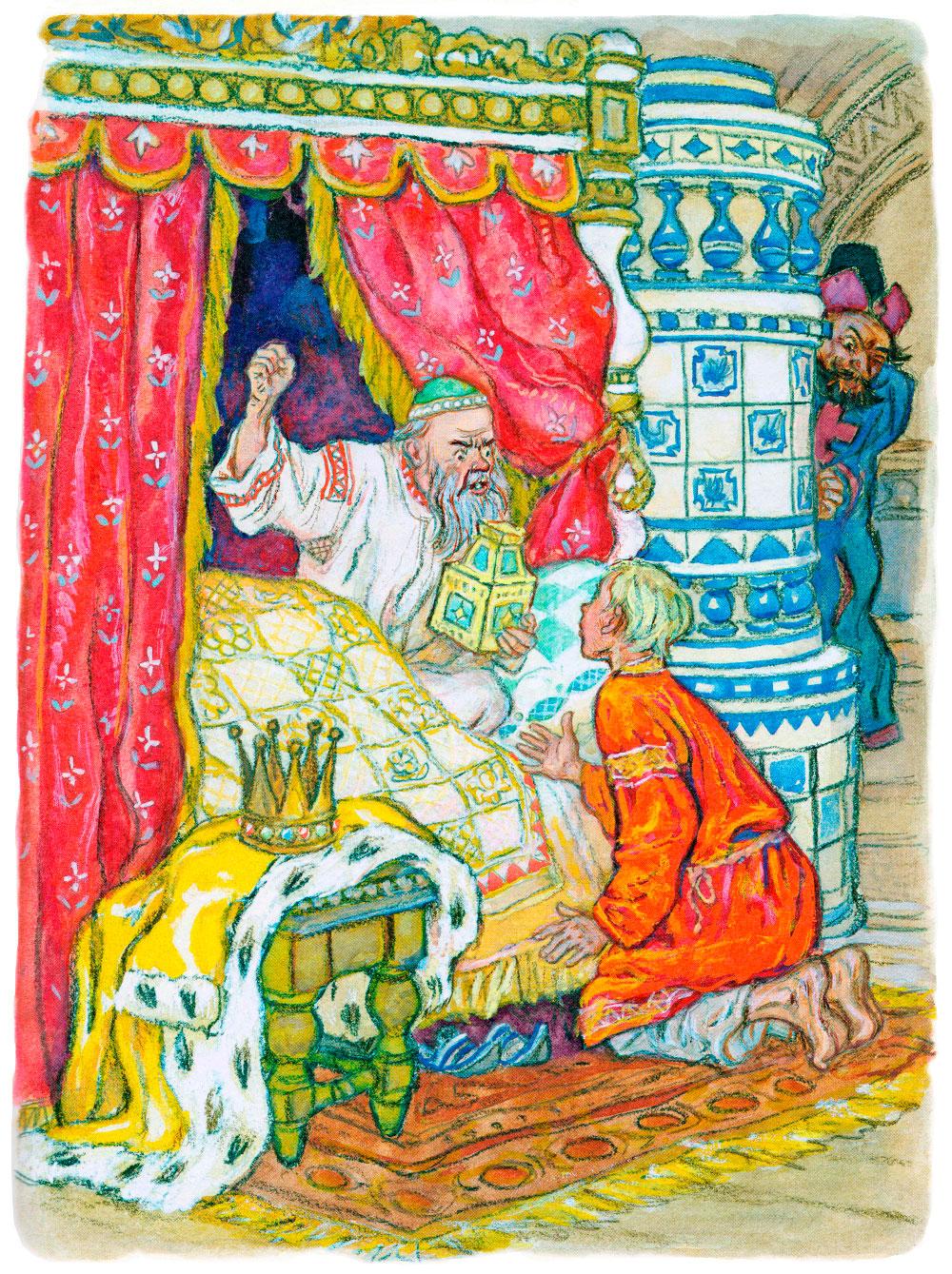 Царь ругается на Ивана