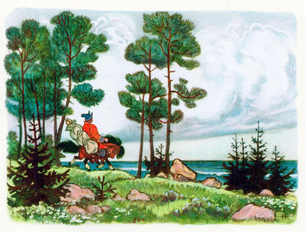 Иван и Конек-горбунок у океана