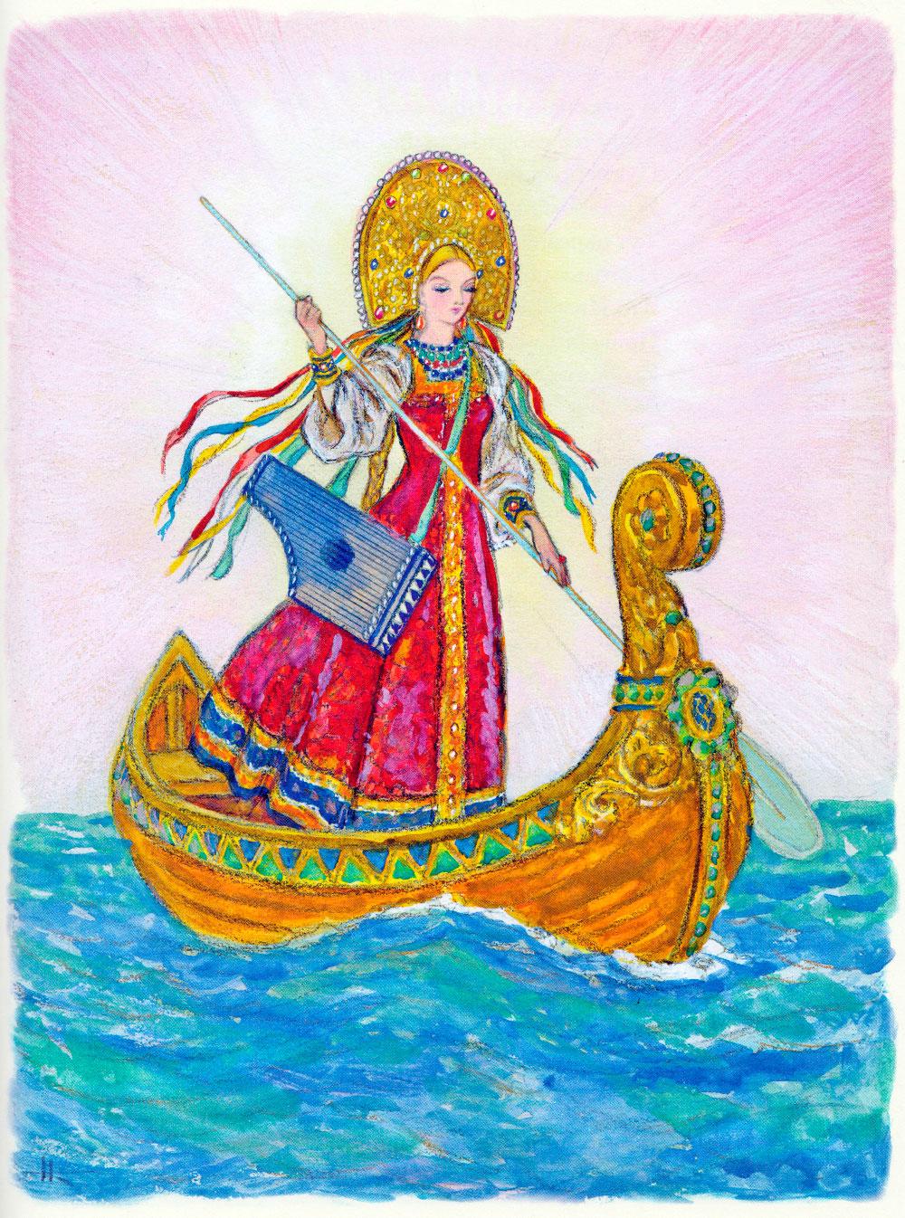 Царь-девица по морю плывет