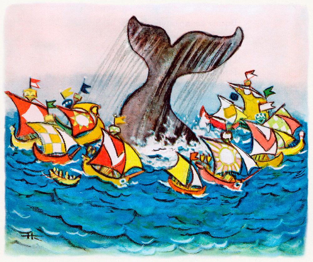 Рыба-кит отпускает корабли