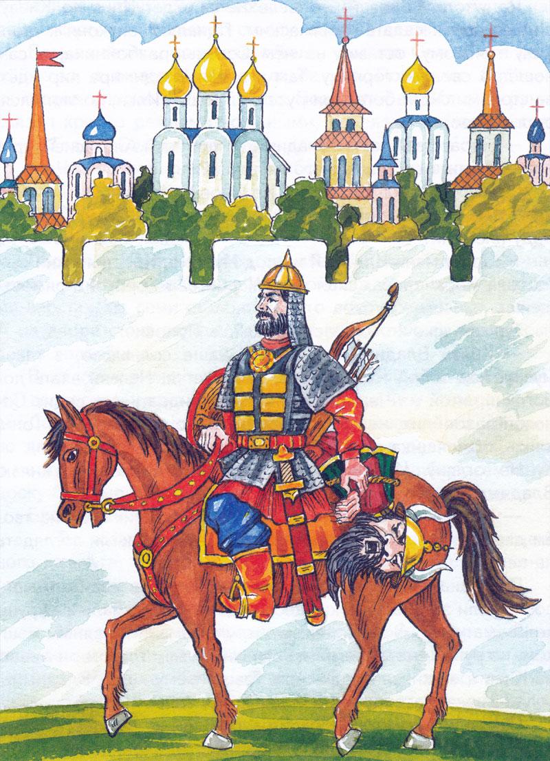 Илья Муромец везет Соловья разбойника