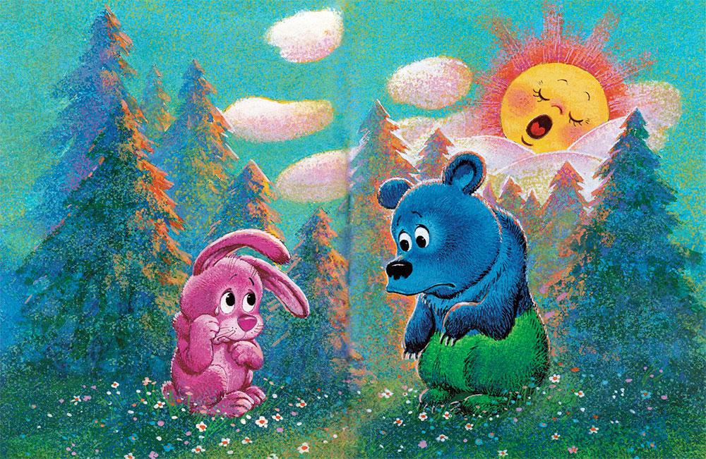 картинки к сказке заяц и медведь резинка
