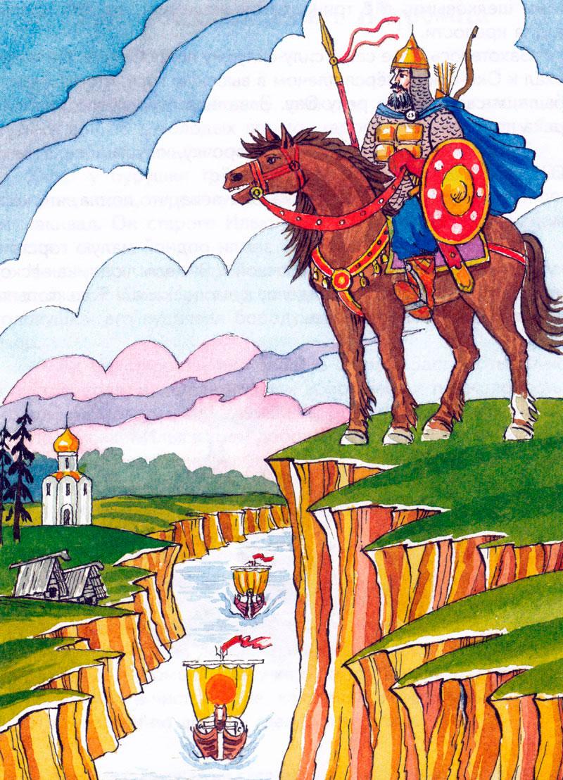 иллюстрации к русским былинам карандашом впечатление