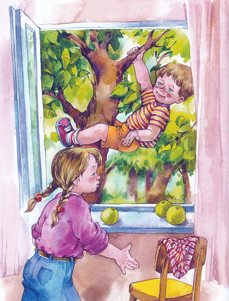Алешка висит на дереве