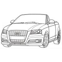 Раскраски машины Ауди - распечатать бесплатно