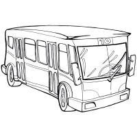 Раскраска Комфортабельный автобус - распечатать бесплатно