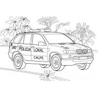 Раскраска Полицейский УАЗик - распечатать бесплатно