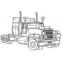 Раскраска Три американских грузовика | Раскраски Грузовики