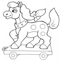 Раскраска Резвая лошадка - распечатать бесплатно