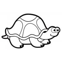 Раскраска Морская черепаха плывет - распечатать бесплатно
