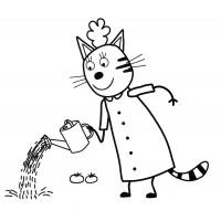 раскраска карамелька раскраски три кота