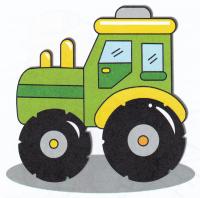 Раскраска Фермерский трактор - распечатать бесплатно
