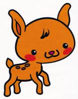 Раскраска Маленький олень - распечатать бесплатно
