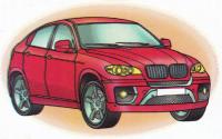 Раскраска BMW X6 - распечатать бесплатно