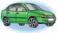 Рисунок карандашом автомобиля 'Лада калина'. | Как рисовать: уроки, мк | Постила