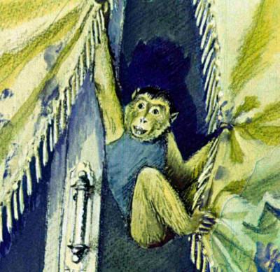 Открытки с обезьянками и поздравлением глазах